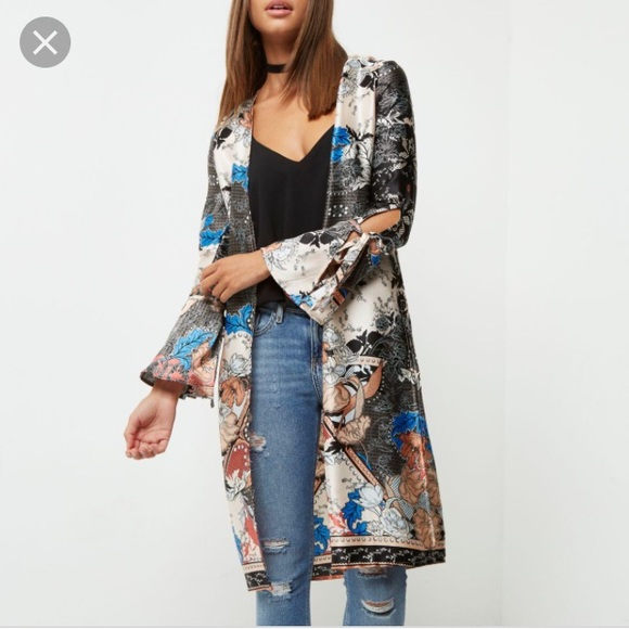 ASOS Jackets & Blazers - Super pretty silky kimono with tie sleeve!